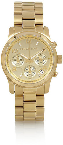 Michael Kors Gold-plated steel chronograph watch