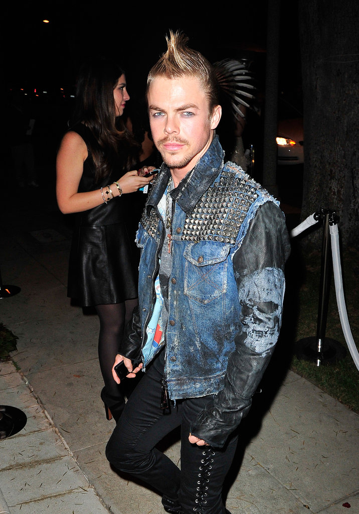 Derek Hough channeled Billy Idol for Halloween at the Casamigos Halloween Party.