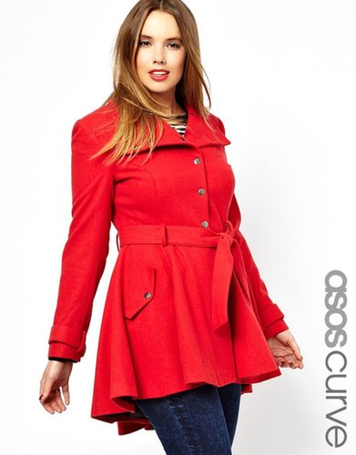 ASOS CURVE Fit & Flare Coat