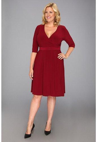 Kiyonna - Essential Wrap Dress (Cabarnet) - Apparel