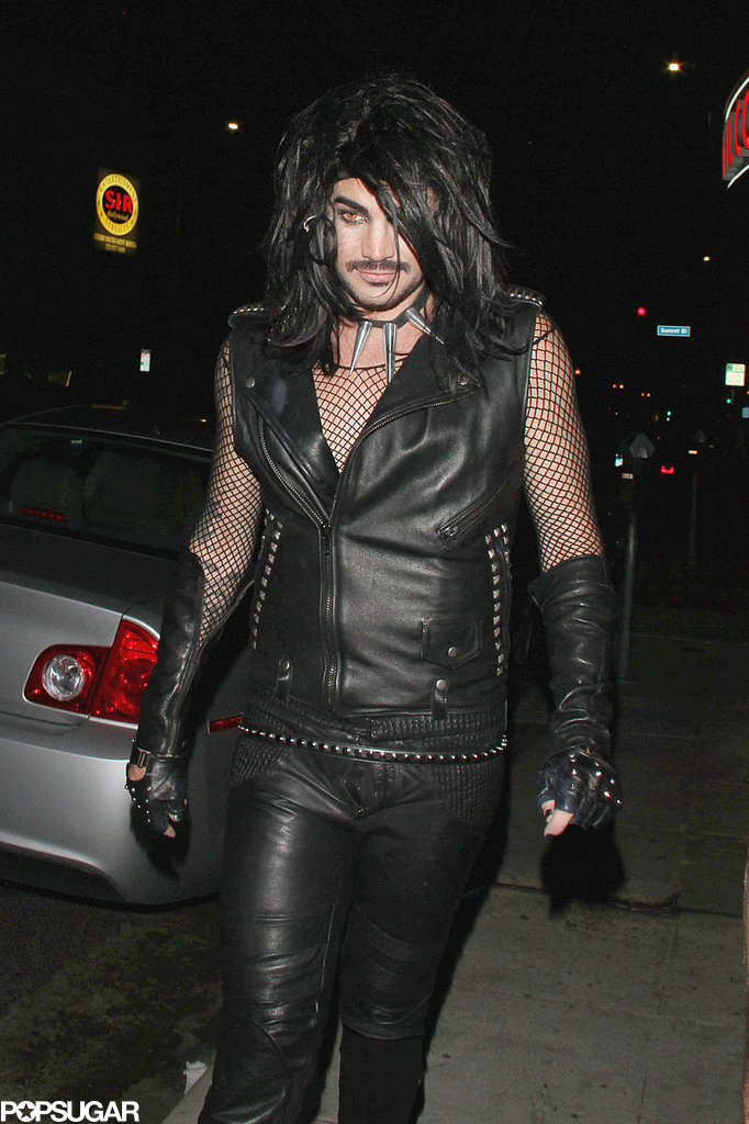Adam Lambert went totally goth for a Halloween party in Hollywood.