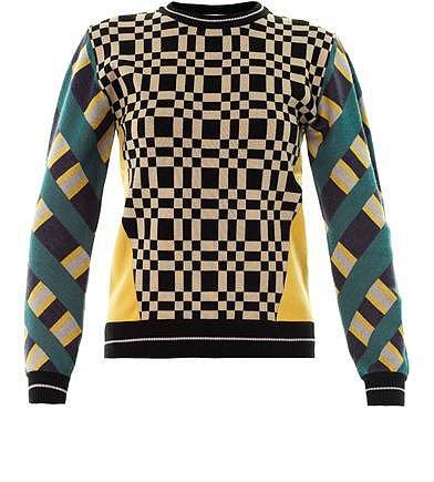Jonathan Simkhai Check-knit sweater