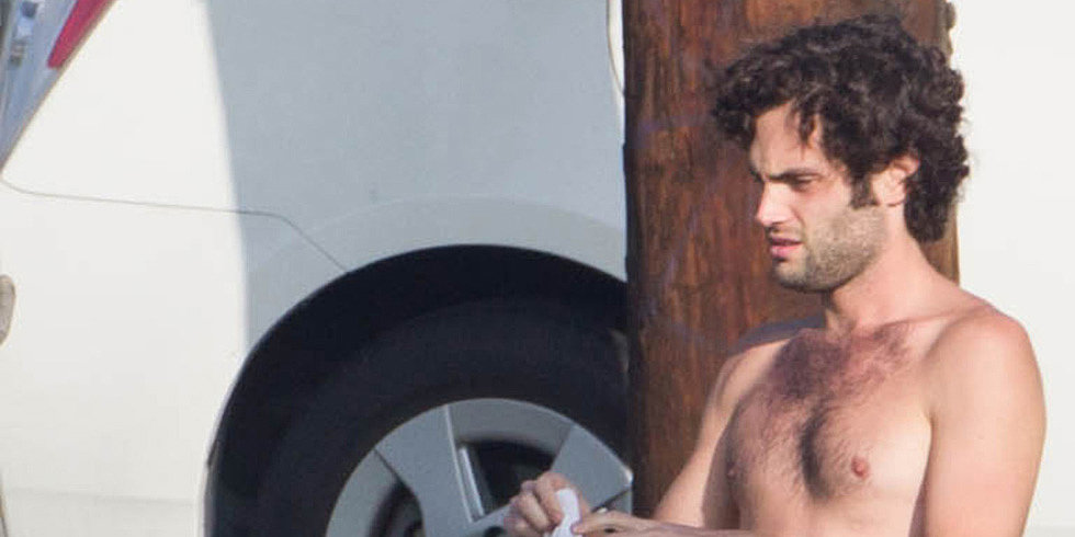 Shirtless Penn Badgley Is the Ultimate Hipster