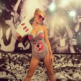 Miley Cyrus Paris Hilton was one of Halloween's many Mileys. Source: Instagram user parishilton