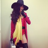 Carmen Sandiego Naya Rivera went as a sexy version of Carmen Sandiego.  Source: Instagram user nayarivera