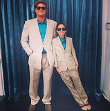 Twins Hilarious: Nicole Richie and a friend went as Danny DeVito and Arnold Schwarzenegger from the movie Twins. Source: Instagram user nicolerichie
