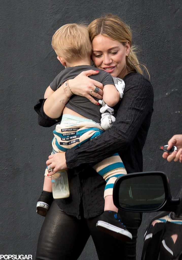 Hilary Duff took her son, Luca, to her sister's book signing in LA on Saturday.