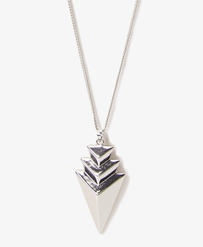 FOREVER 21 Stacked Arrowhead Necklace