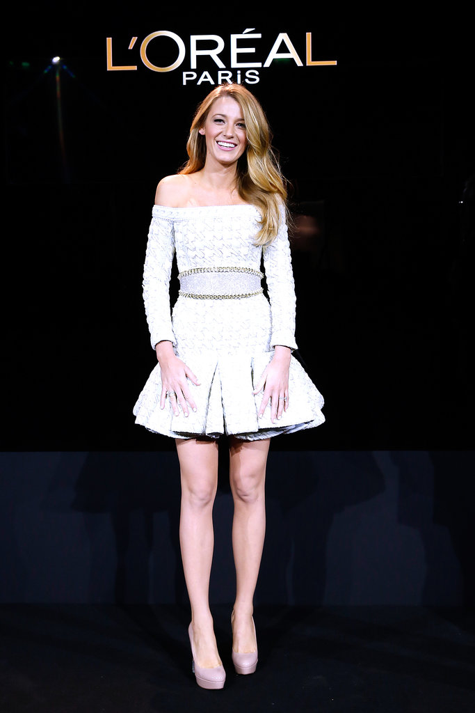 Blake Lively attended the presentation of her announcement as the new face of L'Oréal Paris in France.