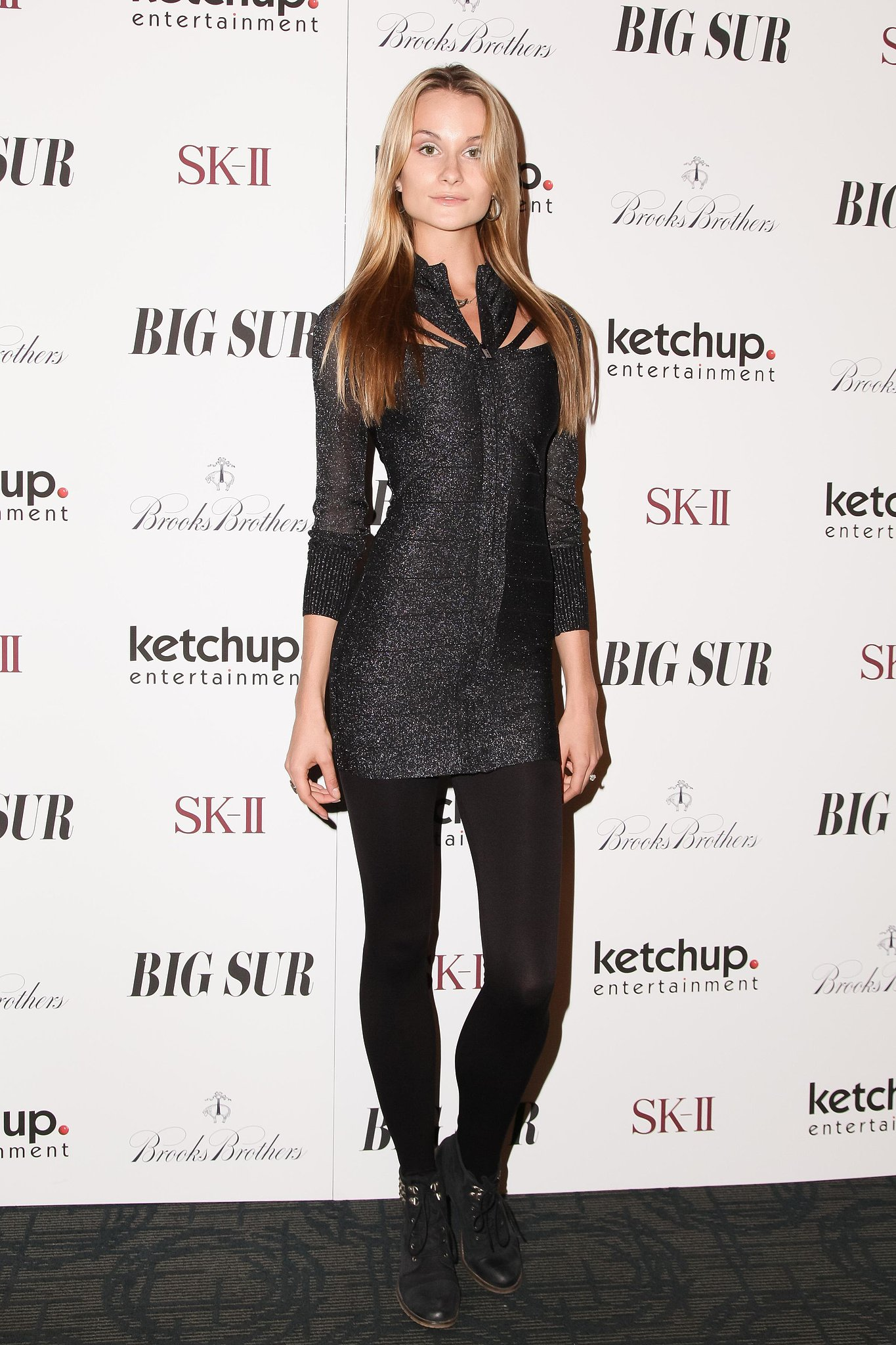 Elena Kurnosova made an impact in her cutout design on the Big Sur carpet.