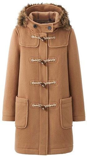 Women Wool Blended Duffle Long Coat