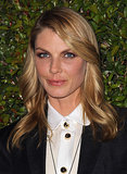 When you've got a complexion like Angela Lindvall's, very little makeup is required. She played up her best feature with a bronze eye shadow shade.