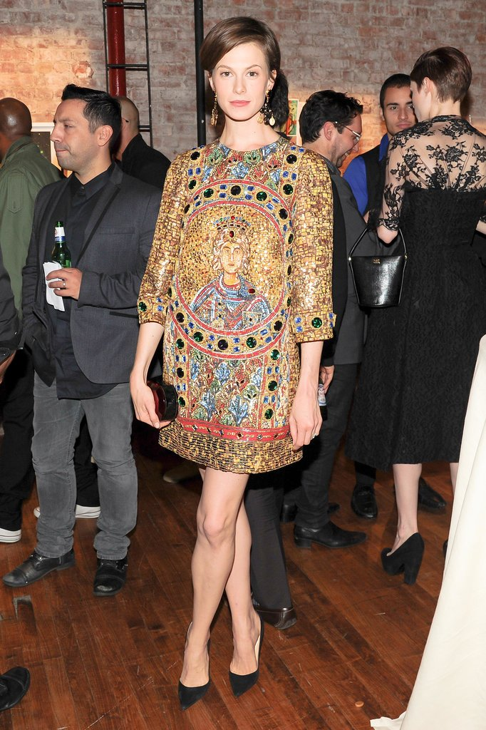 Elettra Wiedemann glowed in Dolce & Gabbana's design at the label's New York benefit.