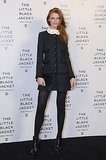 Cintia Dicker opted for a conservative choice at the Chanel Little Black Jacket event.