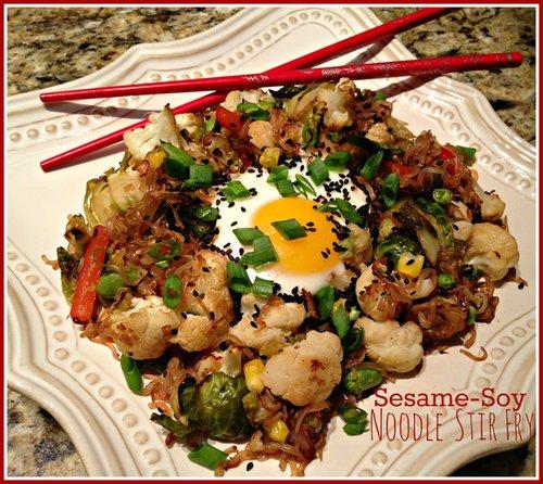 Sesame-Soy Noodle Stir Fry