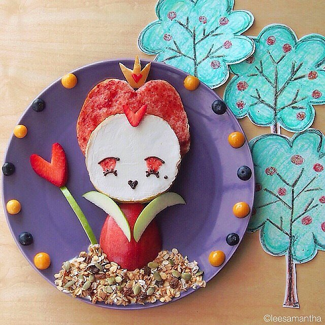 What a scrumptious-looking Queen of Hearts! Any guesses on what she's made out of?  Source: Instagram user leesamantha