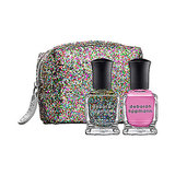 You don't even have to wrap the Deborah Lippmann Best of Both Worlds Pop Rock Mini Duet ($19), which comes packaged in a sparkling pouch.