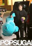 Rob Kardashian carried a huge stuffed animal.