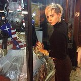 Miley Cyrus did some Halloween-themed window shopping. Source: Instagram user mileycyrus