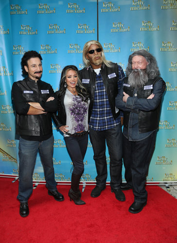 Kelly Ripa and the Live With Kelly and Michael team dressed up as characters from Sons of Anarchy in 2013.