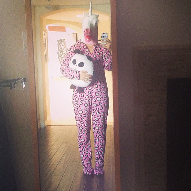 "Lucy Hale dressed up as a ""rare jagicorn."" Source: Instagram user lucyhale"