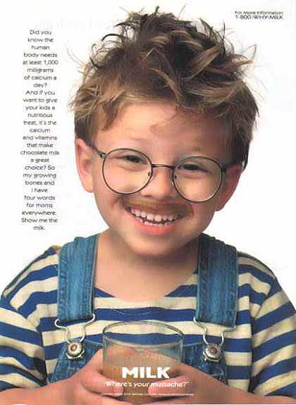 "After melting hearts in 1996's Jerry Maguire, actor Jonathan Lipnicki looked adorable in a ""Got Milk?"" ad."