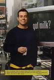 TRL host Carson Daly posed with a milk mustache right in the MTV Studios.