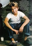 "Jonathan Taylor Thomas flashed his signature grin for his ""Got Milk?"" ad."
