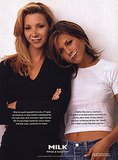 "Friends costars Lisa Kudrow and Jennifer Aniston were featured together, with Jennifer sporting her iconic ""Rachel"" hairdo and a very '90s babydoll tee."