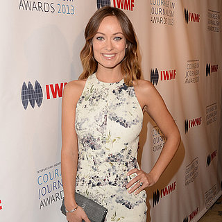 Pregnant Olivia Wilde at Courage in Journalism Awards 2013
