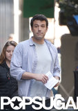 Ben Affleck shot scenes for Gone Girl in LA on Wednesday.