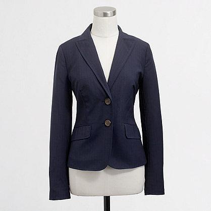 Factory suiting blazer in pinstripe wool