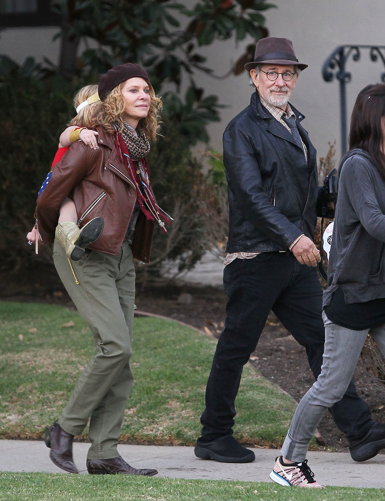 Steven Spielberg joined his family in LA for a Halloween stroll.