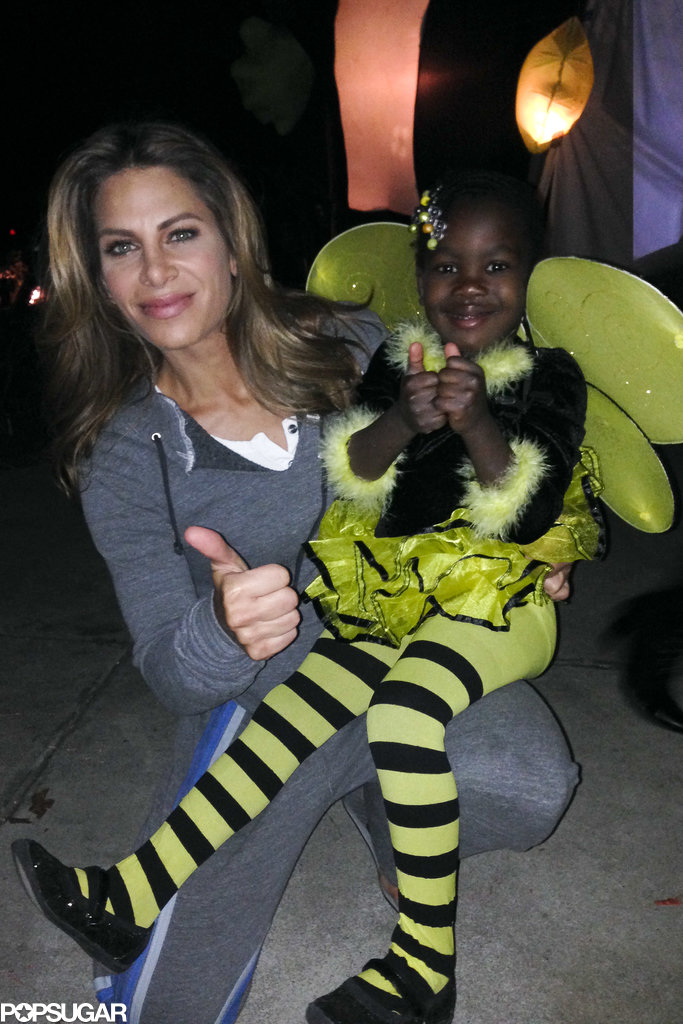Jillian Michaels took her daughter out trick-or-treating in Malibu.