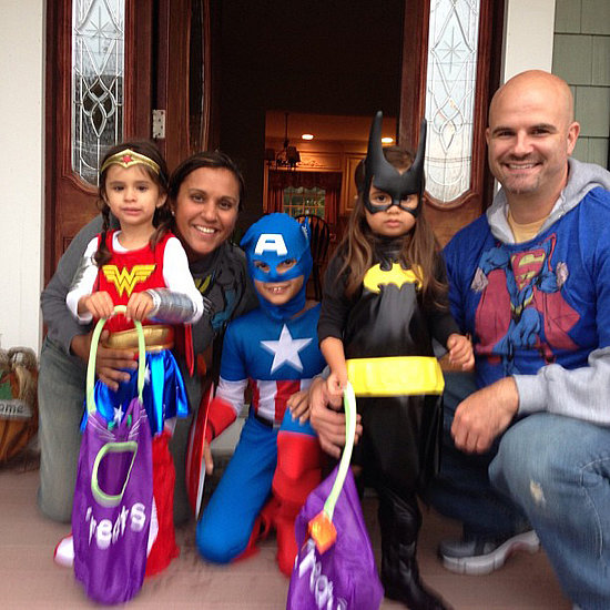 Wonder Woman, Captain America, and Batgirl