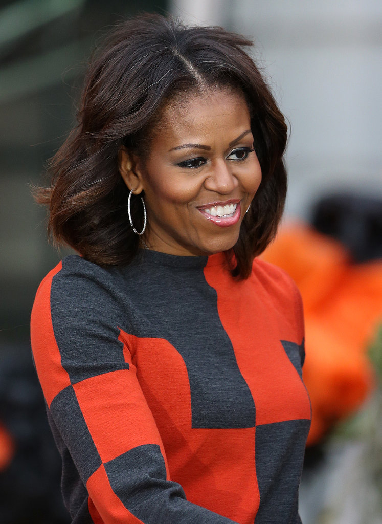 They also got to see Michelle Obama's festivewear.