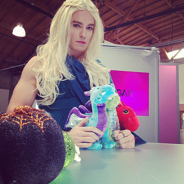 POPSUGAR Live's LA anchor, Matthew Rodrigues, went as Game of Thrones' Mother of Dragons, Daenerys Targaryen. Source: Instagram user popsugar