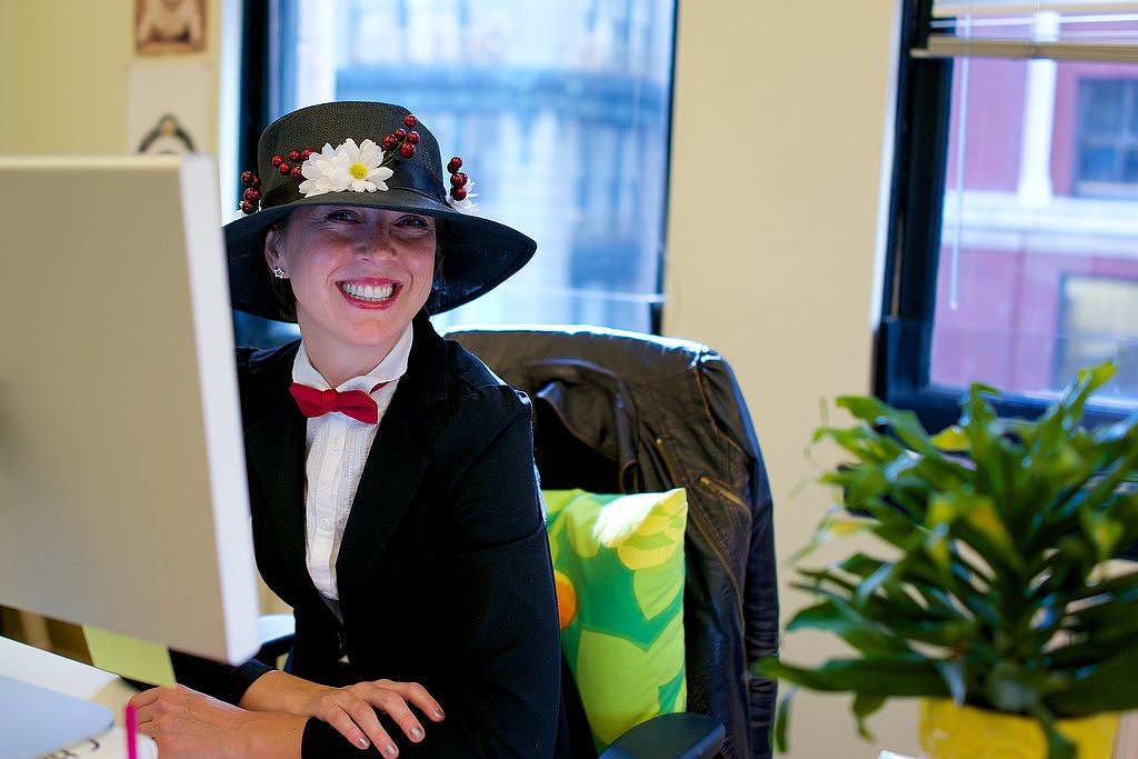 Mary Poppins made an appearance at the SF office courtesy of beauty editor Jamie Richards. Source: graceandjason.com