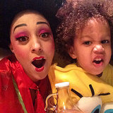 Tia Mowry struck a silly pose with son Cree.  Source: Instagram user tiadmowry