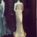 Look what we spotted in the window of Bergdorf Goodman! It's Anne Hathaway's Oscar dress.