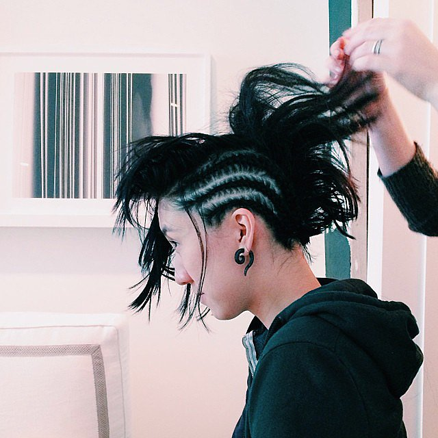 Lucky Magazine editor in chief Eva Chen got an edgy makeover for Halloween. Source: Instagram user luckymagazine
