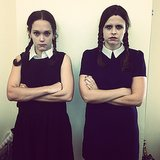 SF video team members Lauren Bradshaw and Kat Malinowska took on two different versions of Wednesday Addams.  Source: Instagram user fudgekat