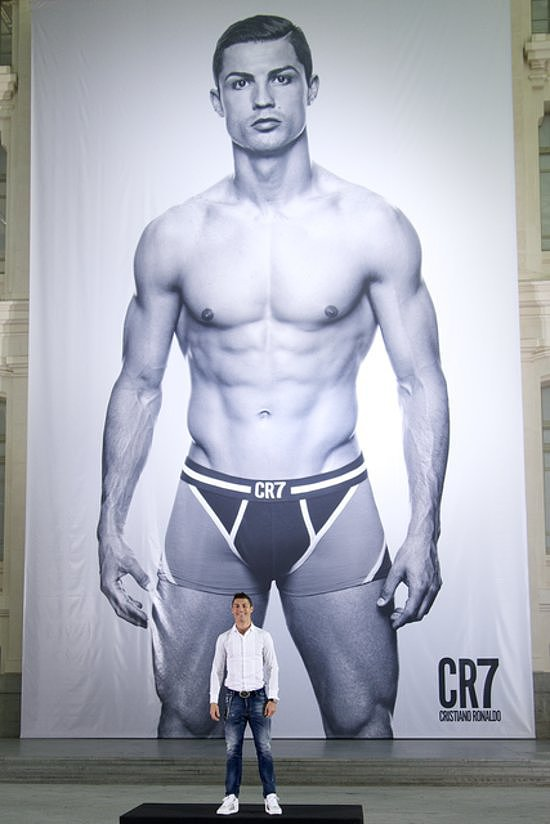 Cristiano Ronaldo unveiled a revealing ad campaign for his CR7 underwear line in Madrid, Spain, on Thursday.