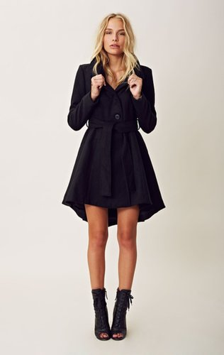 Bb dakota deena high low belted coat