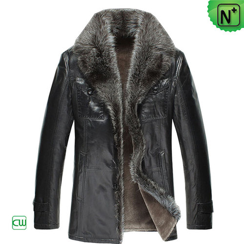 Real Raccoon Fur Coat Mens CW868871