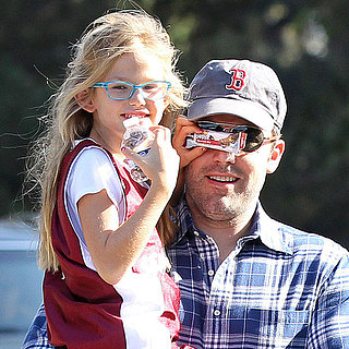 Ben Affleck and Violet Playing After Basketball Practice