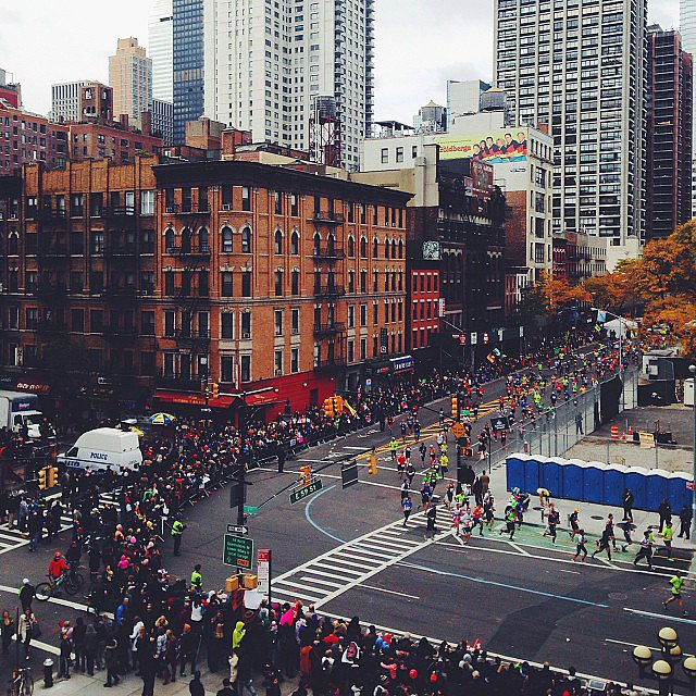Race officials said there were well over 2 million spectators watching the marathon from city streets. Source: Instagram user fredgoris