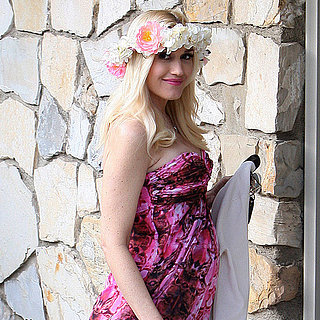 Gwen Stefani Wearing a Floral Dress to Friend's Baby Shower