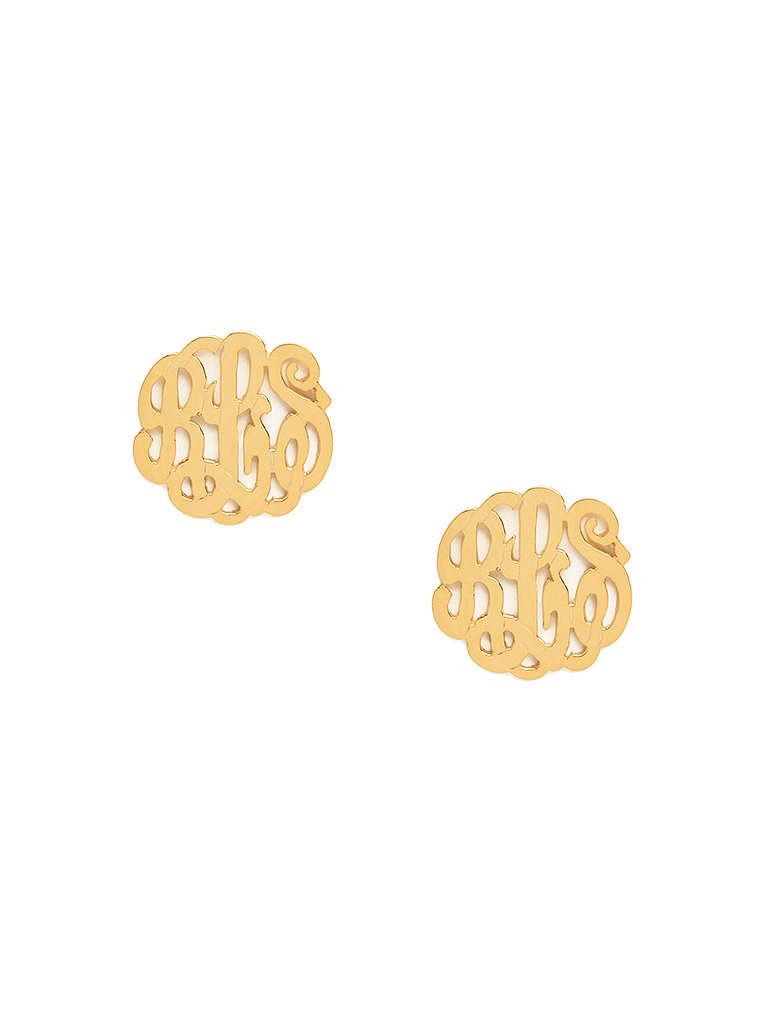 Replace someone's everyday studs with something a bit more special. BaubleBar's swirly twirly monograms ($120-$130) looks fanciful from afar and extraspecial up close.