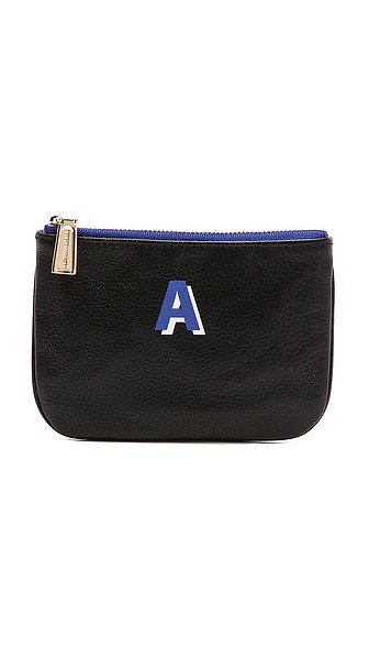 Because we have yet to find someone who doesn't perpetually need another zip-up to stash lip balm, frequent buyer cards, and the odd hair tie, Rebecca Minkoff's simple initial pouch ($50) is bound to please.